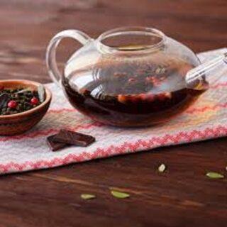 Иван-чай с ягодами и листьями брусники, клюквы и облепихи